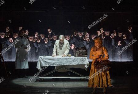 Stock Photo of Alan Opie as The Pathologist, Janis Kelly as Polly Nichols