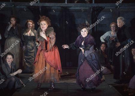 Stock Photo of Susan Bullock as Liz Stride, Lesley Garrett as Catherine Eddowes