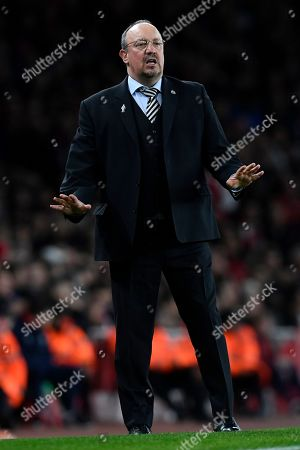 Newcastle United manager Rafael Benitez during the English Premier League soccer match between Arsenal and Newcastle United at Emirates Stadium, London, Britain, 01 April 2019.