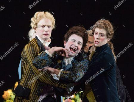 James Laing as Demetrio, Patrick Terry as Arsace,   Jacquelyn Stucker as Alessandro,