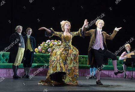 Stock Photo of Claire Booth as Berenice,  James Laing as Demetrio