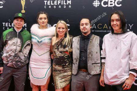 Anna Lambe, Thomas Lambe, Adam Tanuyak, Miranda de Pencier and Paul Nutarariaq