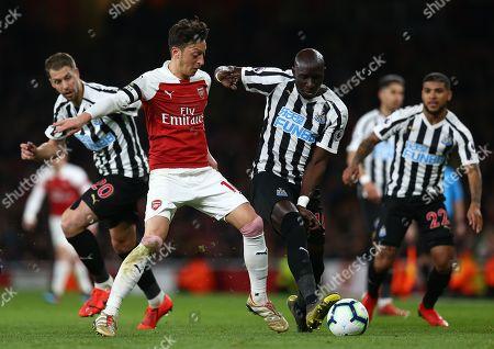Editorial image of Arsenal v Newcastle, Premier League, Football, Emirates Stadium, London, UK - 01 Apr 2019