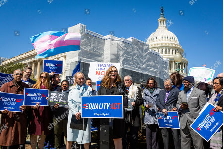Stock Image of Sarah McBride, national press secretary for Human Rights Campaign, speaks in Washington
