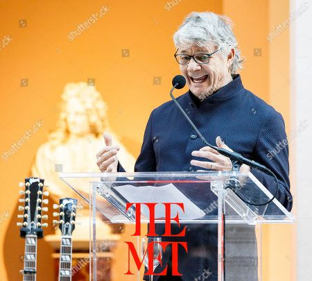 Guitarist Steve Miller speaks during a press conference for the new exhibit 'Play It Loud: Instruments of Rock & Roll' at the Metropolitan Museum of Art in New York, New York, USA, 01 April 2019. The exhibit features over 130 musical instruments, including many electric guitars, from iconic rock and roll musicians dating from 1939 to 2017 including The Beatles, Chuck Berry, Jimmy Page, Elvis Presley, and Jimi Hendrix. It runs from 08 April 2019 until 01 October 2019,