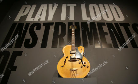 Editorial picture of Rock And Roll Instruments Exhibit, New York, USA - 01 Apr 2019
