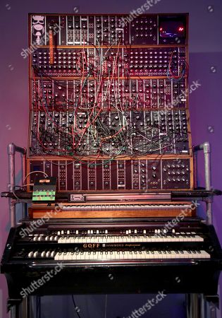 """Stock Photo of A customized organ used by Keith Emerson of Emerson, Lake and Palmer is displayed at the exhibit """"Play It Loud: Instruments of Rock & Roll"""" at the Metropolitan Museum of Art in New York, . The exhibit, which showcases the instruments of rock and roll legends, opens to the public on April 8 and runs until Oct. 1, 2019"""