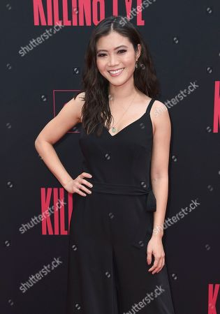 """Jessica Lu arrives at the season two premiere of """"Killing Eve"""", at ArcLight Hollywood in Los Angeles"""
