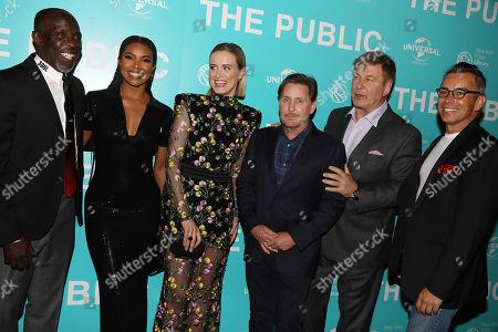 Michael K. Williams, Gabrielle Union, Taylor Schilling, Emilio Estevez, Alec Baldwin and Ray Bouderau
