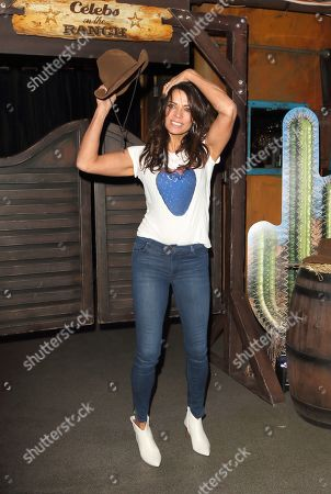 Jenny Powell seen during the Celebs On The Ranch Launch at Jerusalem Bar and Kitchen, Rathbone Place in London.