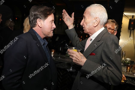 Emilio Estevez and Gay Talese