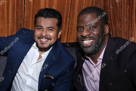 """Jacob Vargas and Che """" Rhymefest"""" Smith"""