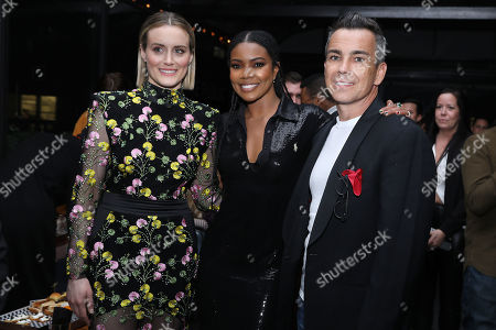Ray Bouderau, Taylor Schilling and Gabrielle Union