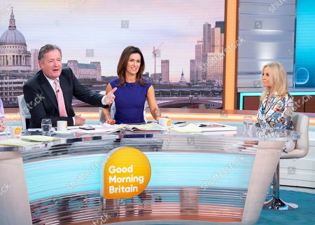 Piers Morgan and Susanna Reid with Amy Price