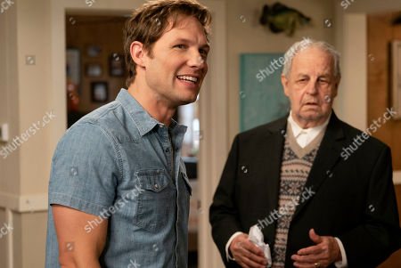 Stock Image of Michael Cassidy as Tim and Paul Dooley as Uncle Bill