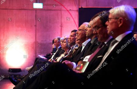 Former German soccer player Franz Beckenbauer (C) attends the opening gala of the 'Hall Of Fame' of German football in Dortmund, Germany, 01 April 2019 (issued 02 April 2019). The Hall Of Fame will be part of the permanent exhibition in the German Football Museum, where players and coaches of men's and women's soccer of German origin will be honoured for their outstanding achievements in shaping German soccer from 1900 until today.