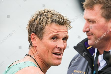 River Thames, London, England ; The Boat Race 2019, Men's race ; James Cracknell and Sir Matthew Pinsent are reunited at the Boat Race.