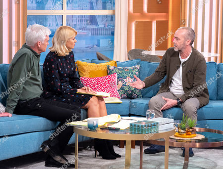Phillip Schofield and Holly Willoughby with John Hannah