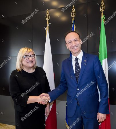 Editorial picture of Polish government official Beata Kempa in Rome, Italy - 02 Apr 2019