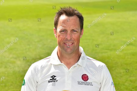 Head shot of Marcus Trescothick of Somerset during the 2019 media day at Somerset County Cricket Club at the Cooper Associates County Ground, Taunton