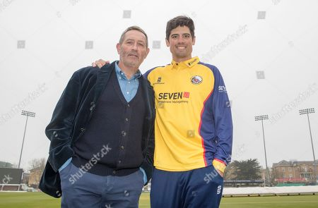 Graham Gooch (left) and Sir Alastair Cook of Essex pose for a portrait together during the Essex CCC Press Day at The Cloudfm County Ground on 2nd April 2019