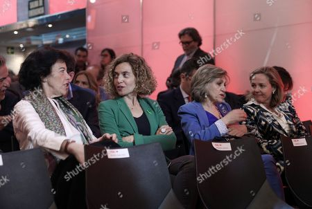 Isabel Celaa, Meritxell Batet, Maria Luisa Carcedo and Nadia Calviño attending the electoral campaign of the Socialists.