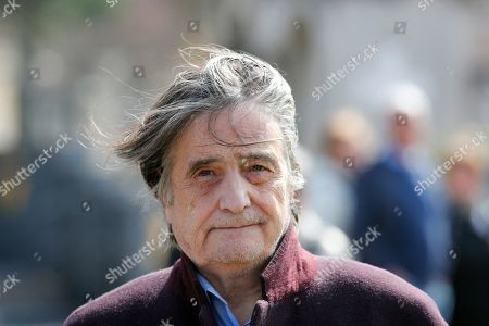 French actor Jean-Pierre Leaud arrives for the funeral ceremony of late French filmmaker Agnes Varda at Montparnasse cemetery, in Paris, . Filmmaker Agnes Varda, a central figure of the French New Wave who won the Golden Lion at the Venice Film Festival, has died. She was 90