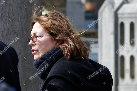 French actress Jane Birkin arrives for the funeral ceremony of late French filmmaker Agnes Varda at Montparnasse cemetery, in Paris, . Filmmaker Agnes Varda, a central figure of the French New Wave who won the Golden Lion at the Venice Film Festival, has died. She was 90