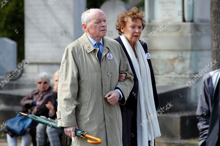 French former culture minister Jacques Toubon, left, leaves after the funeral ceremony of late French filmmaker Agnes Varda at Montparnasse cemetery, in Paris, . Filmmaker Agnes Varda, a central figure of the French New Wave who won the Golden Lion at the Venice Film Festival, has died. She was 90