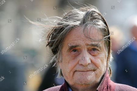 French actor Jean-Pierre Leaud leaves after the funeral ceremony of late French filmmaker Agnes Varda at Montparnasse cemetery, in Paris, . Filmmaker Agnes Varda, a central figure of the French New Wave who won the Golden Lion at the Venice Film Festival, has died. She was 90