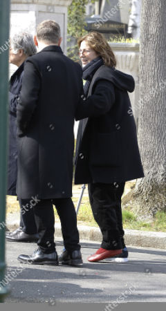 Jane Birkin arrives for the funeral ceremony of late French filmmaker Agnes Varda