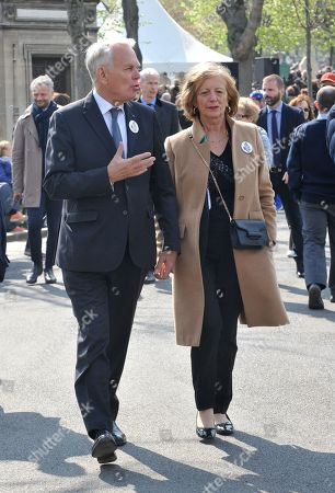 Former French Prime Minister Jean-Marc Ayrault and his wife Brigitte
