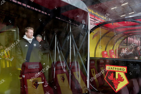 Andre Schurrle of Fulham standing in the dugout before kick off