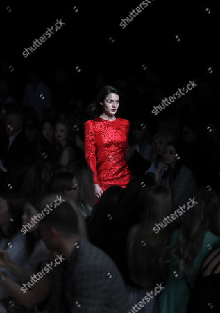 A model presents a creation by Russian designer Yasya Minochkina during the Russian Fashion Week RFW, in Moscow, Russia, 02 April 2019. The fashion event runs from 30 March to 03 April.