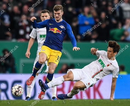 Editorial image of FC Augsburg vs RB Leipzig, Germany - 02 Apr 2019