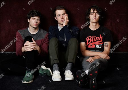 Braeden Lemasters. Cole Preston, Dylan Minnette. This photo shows Braeden Lemasters, from left, Dylan Minnette and Cole Preston of the indie rock band Wallows posing for a portrait at SIR Studios in Los Angeles