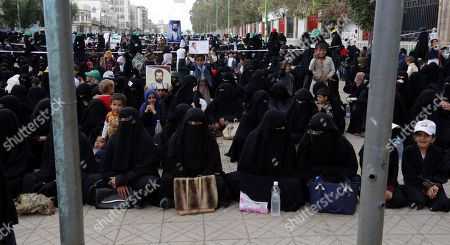 Houthi female supporters attend a rally commemorating the anniversary of the killing of founder of the Houthi movement, Hussein Badreddin al-Houthi, in Sana?a, Yemen, 02 April 2019. The founder of the Houthi movement, Hussein al-Houthi was killed in the 2004 conflict between the Shiite Houthi fighters and the former regime of president Ali Abdullah Saleh. The Houthis could take control on the northern province of Saada in 2011 after an uprising broke out against slain president Saleh. In September 2014, they took over the capital Sana?a and other parts of the country.