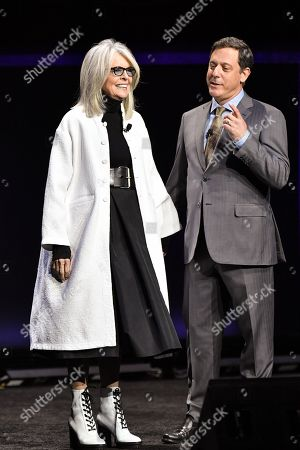 Diane Keaton and Adam Fogelson