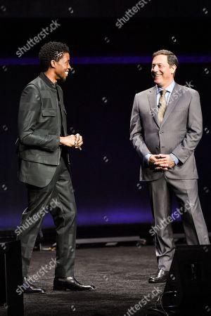 Chadwick Boseman and Adam Fogelson