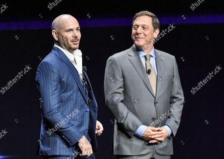 Pitbull and Adam Fogelson