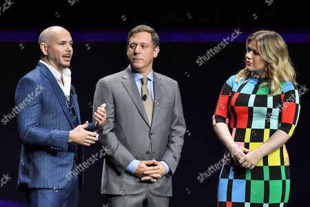 Pitbull, Adam Fogelson and Kelly Clarkson