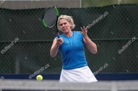 Hungarian tennis player Greta Arn in action against Spanish Lara Arruabarrena during the second day of the Monterrey Tennis Open, in Monterrey, Mexico, 02 April 2019.
