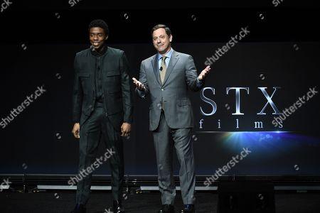 Chadwick Boseman, Adam Fogelson, Chairman of STXfilms