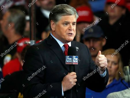 Stock Image of Fox News Channel's Sean Hannity doing his show from the floor of a campaign rally in Cape Girardeau, Mo. Hannity crushed Rachel Maddow of MSNBC last week, with the Fox News Channel personality averaging 3.78 million viewers. The Nielsen company said Maddow had 2.46 million viewers. That represented the biggest gap between the two since last October