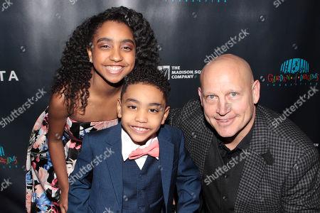 Samantha Ortiz, Sebastian Ortiz and Adam Graves
