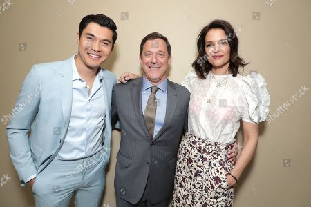 Henry Golding, Adam Fogelson, Chairman of STXfilms, Katie Holmes