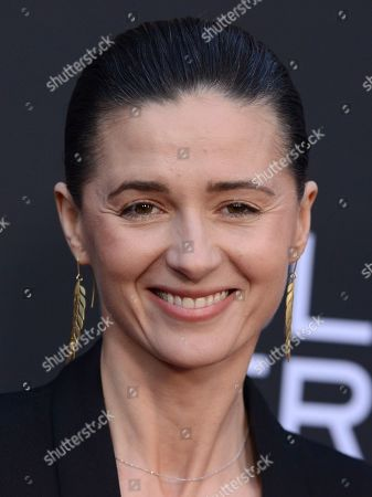 """Agnieszka Grochowska arrives at a special screening of """"Teen Spirit"""" at ArcLight Hollywood, in Los Angeles"""