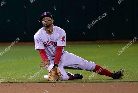 Editorial photo of Red Sox Athletics Baseball, Oakland, USA - 02 Apr 2019