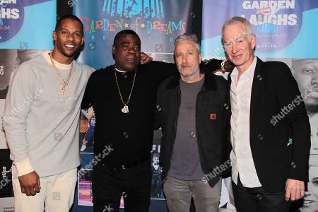 Victor Cruz, Jon Stewart, Tracy Morgan and John Oliver
