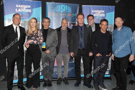 Jerry Seinfeld, Iliza Shlesinger, Michael Imperioli, Jon Stewart, Brian Regan, Steve Schirripa, Ben Stiller and Bill Burr